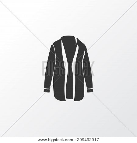 Cardigan Icon Symbol. Premium Quality Isolated Overcoat Element In Trendy Style.