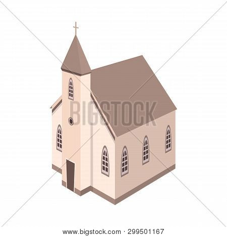Vector Illustration Of Church And Catholic Logo. Collection Of Church And Steeple Vector Icon For St