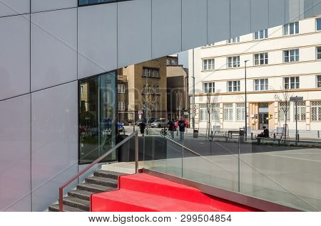 Gdynia, Pomeranian Region / Poland - 2019: Modern Cinema Building And Cultural Center With The Class