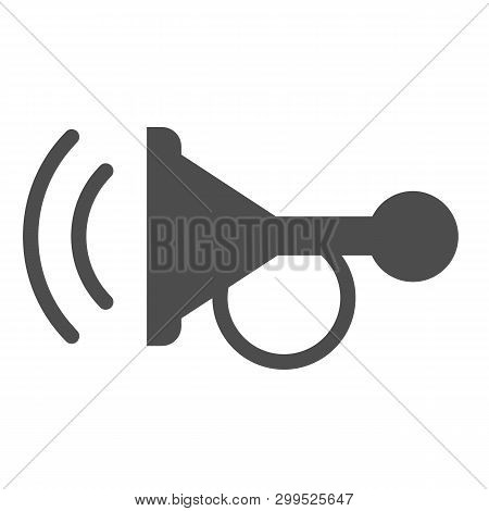 Beep solid icon. Horn vector illustration isolated on white. Car signal glyph style design, designed for web and app. Eps 10. poster