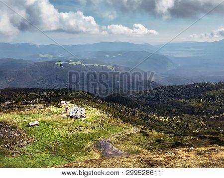 View From Rila Mountains Alpine Range In Bulgaria