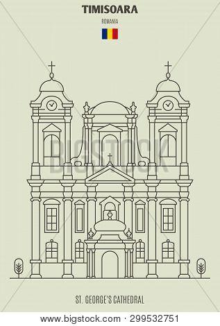 St. George's Cathedral In Timisoara, Romania. Landmark Icon
