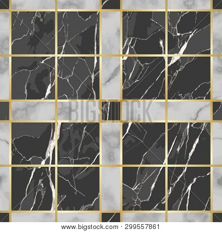 Marble Vector Texture Luxury Check Seamless Pattern