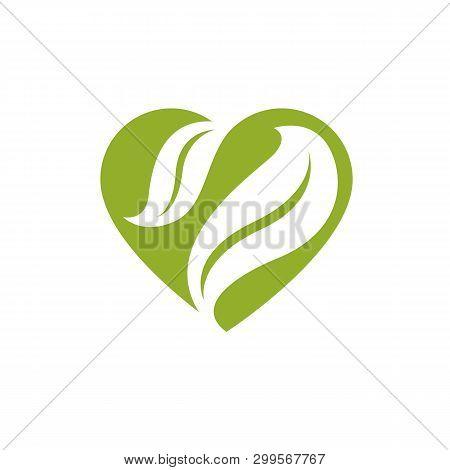 Vector Illustration Of Romantic Heart. Homeopathy Creative Symbol, Naturopathy Theme.