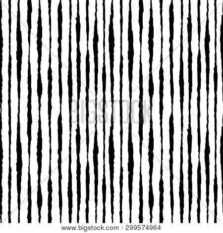 Boho Striped Hand Drawn Ink Seamless Pattern