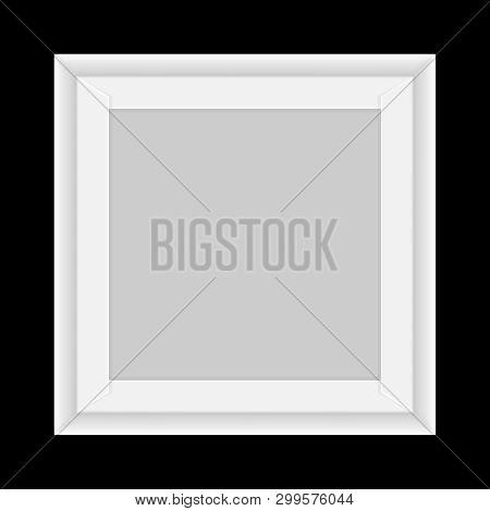 Square White Box Tray Open, Top View Of White Box Tray Isolated On Black, Square Box White Packaging