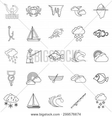 Vacuity Icons Set. Outline Set Of 25 Vacuity Icons For Web Isolated On White Background