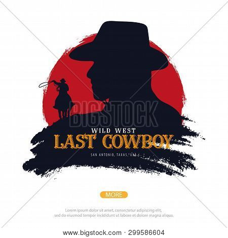 Cowboy Banner. Wild West And Rodeo With Horse. Texas. Vector Illustration.