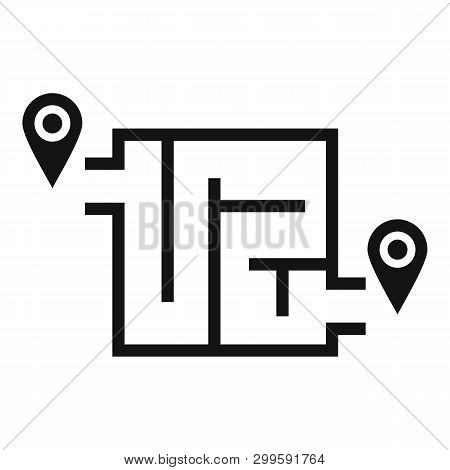 Way Solution Map Icon. Simple Illustration Of Way Solution Map Icon For Web Design Isolated On White