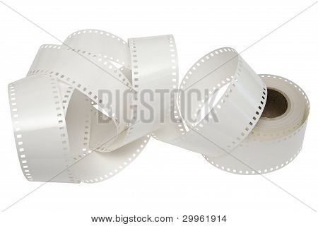 White Film Reel On A White Background