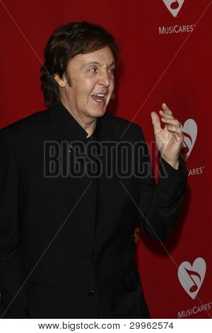 LOS ANGELES, CA - FEB 10: Paul McCartney at the 2012 MusiCares Person of the Year Tribute To Paul McCartney at the LA Convention Center on February 10, 2012 in Los Angeles, California