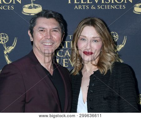 LOS ANGELES - MAY 1:  Lou Diamond Phillips, Yvonne Boismier Phillips at the 2019 Daytime Emmy Nominees Reception at the Castle Green on May 1, 2019 in Pasadena, CA