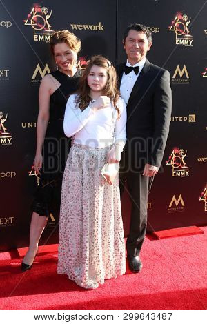 LOS ANGELES - MAY 3:  Yvonne Boismier Phillips, Indigo Phillips, Lou Diamond Phillips at the 2019 Creative Daytime Emmy Awards at Pasadena Convention Center on May 3, 2019 in Pasadena, CA