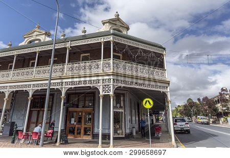 Armidale, Australia - April 10, 2019: Facade Of The Heritage Listed Imperial Hotel Built In 1889 And