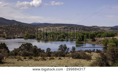 Watson Lake In Prescott, Arizona, Usa On A Sunny Spring Day