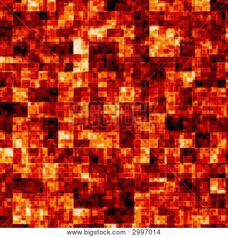 Rote heiße Formen