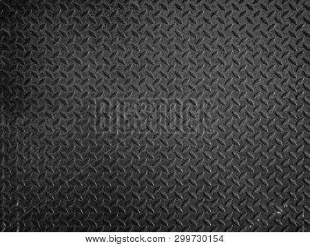 Black Metal Floor Plate Texture And Background