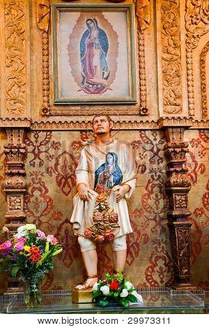 Juan Diego Statute Guadalupe Shrine Mission Basilica San Juan Capistrano Church California