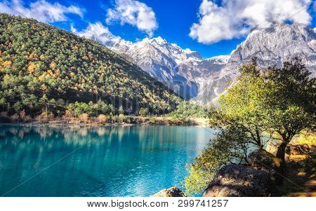 Scenery Of Blue Moon Valley In Lijiang It Is Right Beside The White Water River. The Valley Is Of Cr