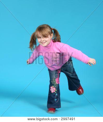 Child On One Leg