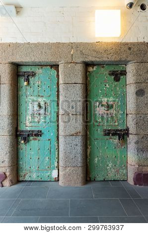 Jail Cell Door In The Former Sandhurst Gaol In Bendigo, Australia, Which Operated From 1863 To 2006.
