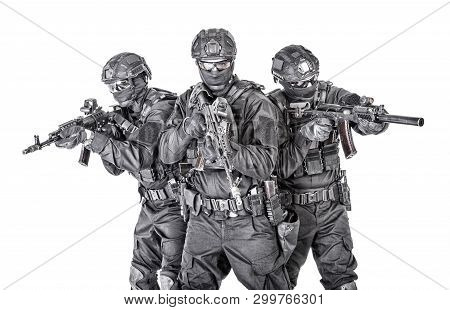 Group Portrait Of Police Special Forces Fighters