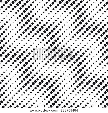 Round Dots In Rows Of Diagonal Waves Pattern