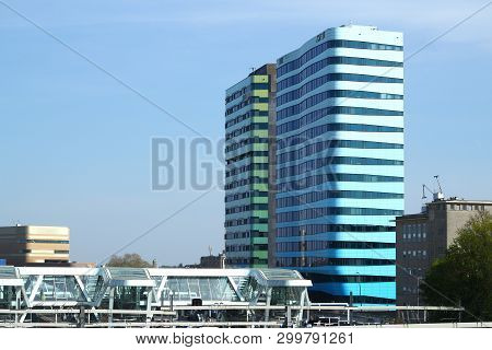 Arnhem, Netherlands - April 22, 2019: World Trade Center Wtc Near The Central Railway Station