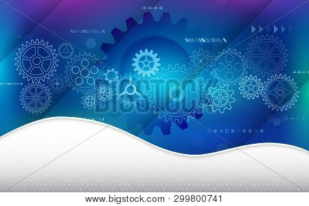 Hi-tech Computer Digital Technology. Abstract Technology Communication Concept. Background With Vari