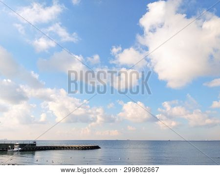 Caddebostan Cloud Sky Sea Seaside Landscape Turkey Istanbul