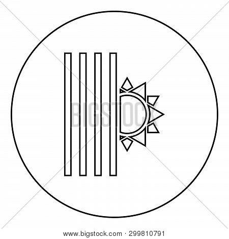 Venetian Blind And Sun Jalousie Close Sun Jalousie Shutdown Light Louver Concept Shutter Symbols Ico