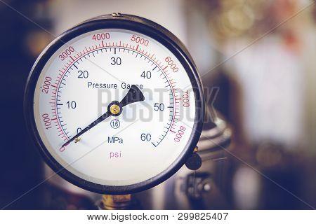 Close Up Of Pressure Gauge