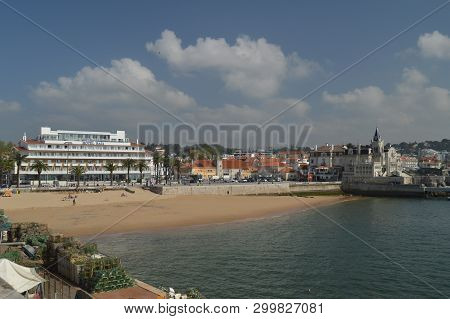 Privileged Views Of Seixas Palace And Beach In Cascais. Photograph Of Street, Nature, Architecture,