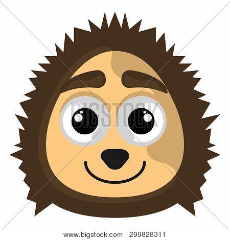 Isolated Cute Avatar Of A Porcupine - Vector
