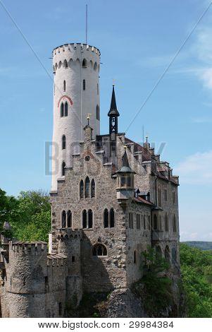The manificent Gutenberg Castle in Balzers, Liechtenstein.