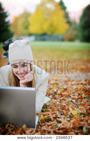 Woman Smile Fall