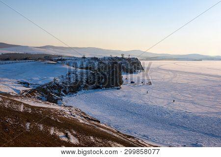 The Coast Of Olkhon Island On  Lake Baikal In Winter, Siberia, Russia