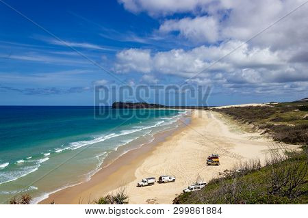 The Incredible Stretch Of Fraser Islands Sandy Beach, Indian Head Lookout, Fraser Island Queensland