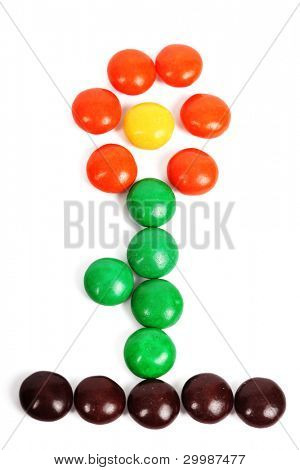 Flower on  isolated background from Gumballs