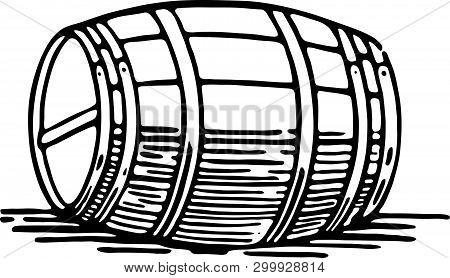 Barrel - Retro At Art Illustration For Alcohol