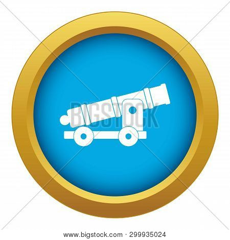 Cannon Icon Blue Vector Isolated On White Background For Any Design