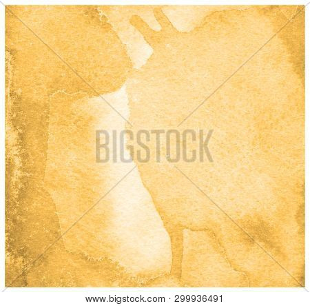 Russet Orange Watercolor Pastel Background. Colorful Paint Like Graphic. Color Glossy. Beautiful Pai