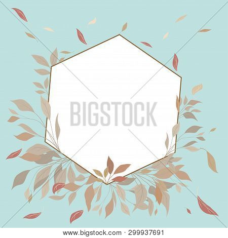 Elegant Wedding Floral Invitation With A Geometric Flame Elegant Rustic Template.