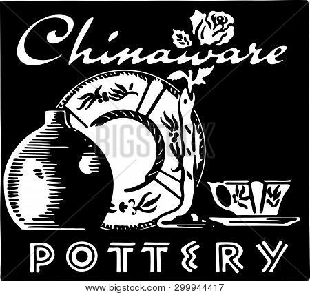 Chinaware - Retro At Art Banner For Dishes