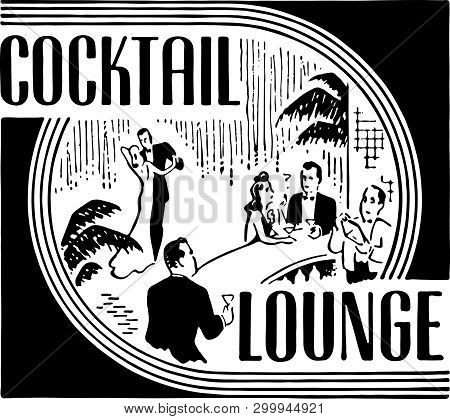 Cocktail Lounge 7 - Retro Ad Art Banner