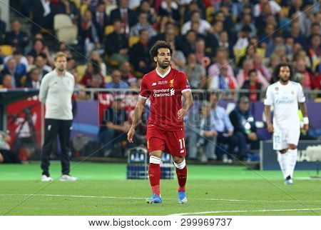 Kyiv, Ukraine - May 26, 2018: Mohamed Salah Of Liverpool In Action During The Uefa Champions League