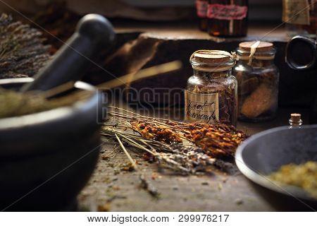 Herbalist. Herbal Medicine And Natural Medicine. Traditional Herbal Remedies.