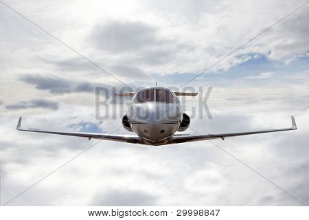 airplane with cloudy sky
