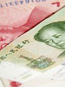 paper currency of China. money of Chinese. poster
