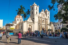 Tegucigalpa,hoduras - March 13,2019 - View At The Cathedral Of Saint Michael Archangel In Tegucigalp